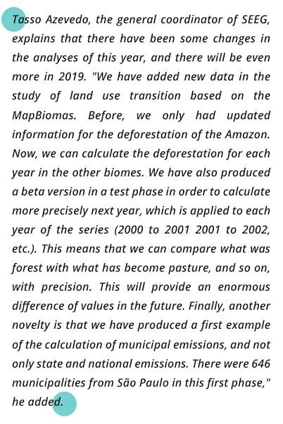 SEEG lança novo relatório de emissões em 2017